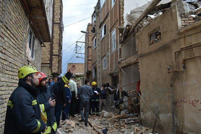 نشت و انفجار گاز شهری تبریز و تخریب 3 منزل مسکونی