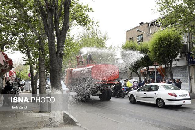 اجرای مرحله دوم ضدعفونی اماکن عمومی ساوه برای جلوگیری از شیوع کرونا