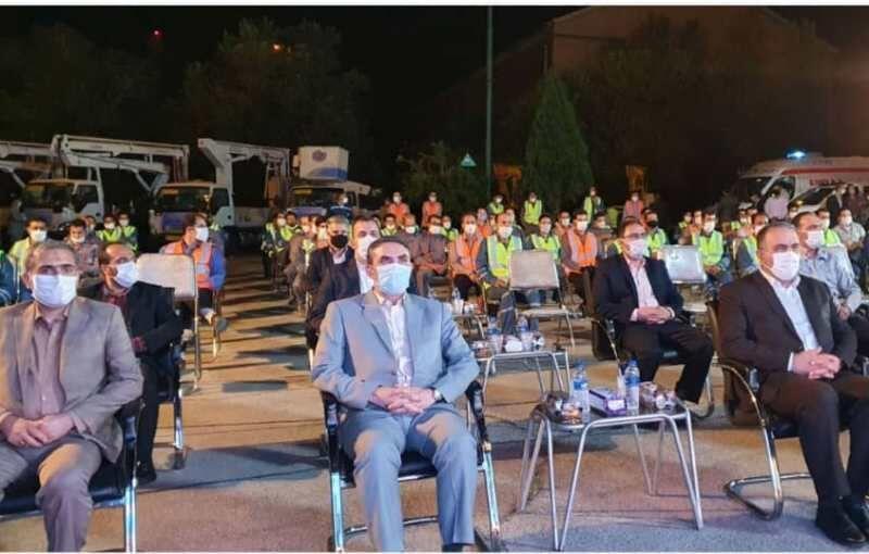 خبرنگاران عملیات تمرینی اصلاح و بهینه سازی روشنایی معابر اراک آغاز شد