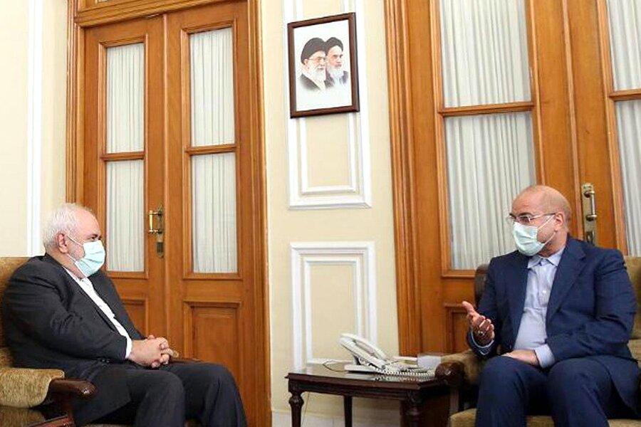تصویر و جزئیات ملاقات ظریف و قالیباف ، ساختار وزارت خارجه تغییر می نماید؟