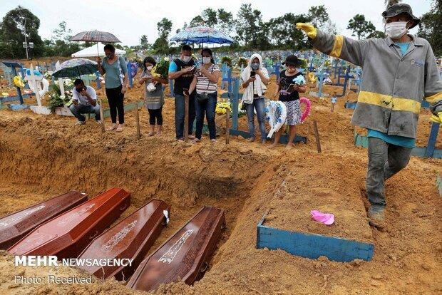 شمار قربانیان کرونا در برزیل از مرز 160 هزار نفر عبور کرد