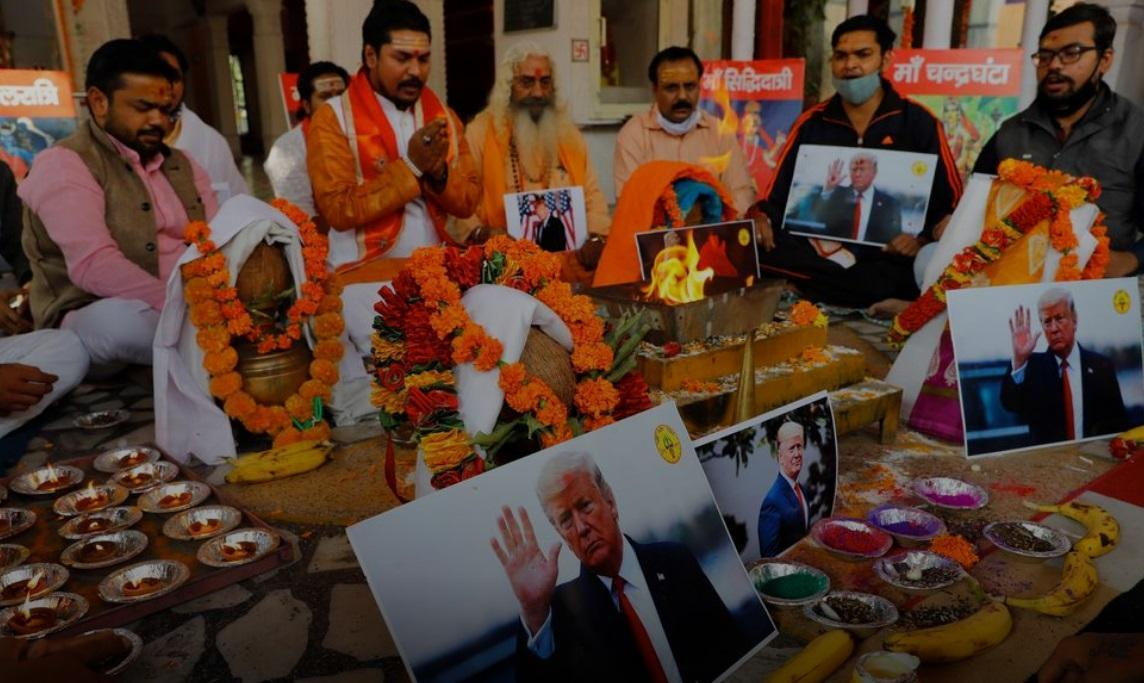 مراسم دعا برای پیروزی ترامپ در هند (
