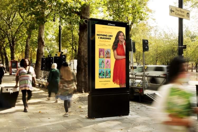 تبلیغات میدانی انتشارات آمازون در ایستگاه های اتوبوس لندن