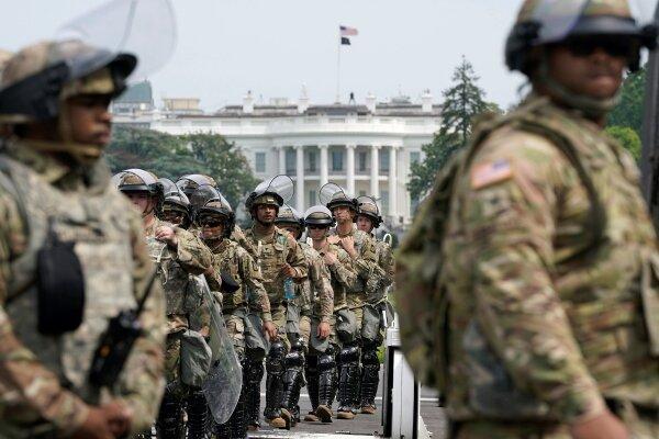 واشنگتن تا 2 ماه دیگر در تسخیر نیروهای گارد ملی می ماند