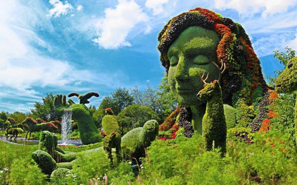 مقاله: پیکره های گیاهی شگفت انگیز در فستیوال باغ آرایی مونترال کانادا