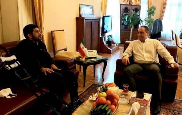 ملاقات دبیر با عضو هیأت رئیسه فدراسیون کشتی در ترکیه