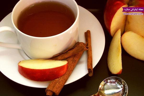 طرز تهیه دمنوش سیب و دارچین